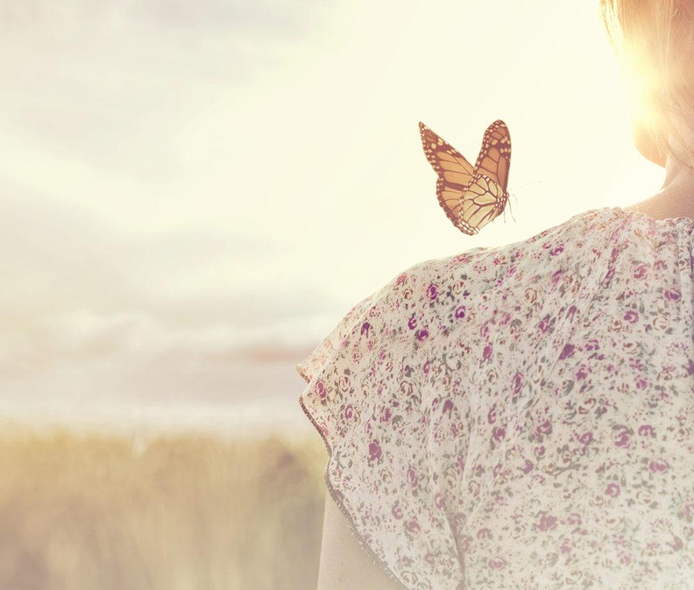 Donna farfalla